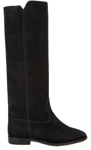 Isabel Marant Etoile Suede Cleave Black Boots