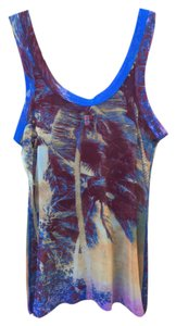 Jean-Paul Gaultier Mesh Fitted Soleil Landscape Top Multi