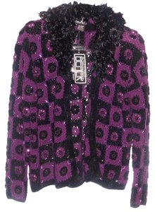 Berek Embroidered Beaded Sequin Sweater
