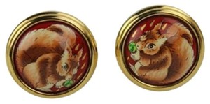 Hermès Squirrel Pendant Clip On Earrings HE06S