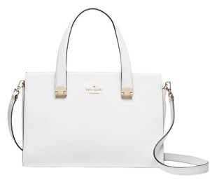 Kate Spade Concord Street Gail Leather Satchel in Bright white