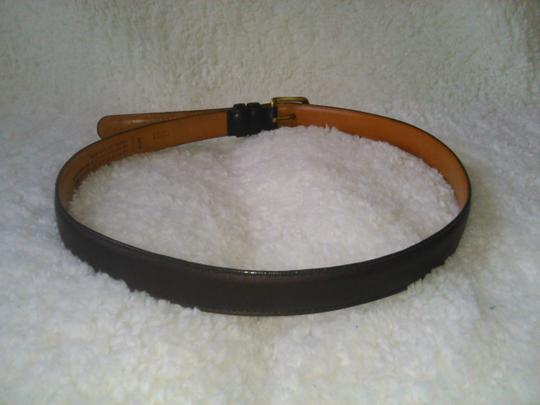 Coach Coach Cowhide Belt with solid brass buckle