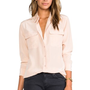 Equipment Button Down Shirt Nude