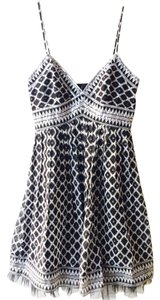 BCBGMAXAZRIA short dress Black & White on Tradesy