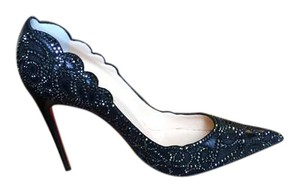 Christian Louboutin Leather Top Black Pumps