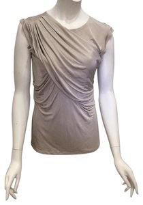 Ann Taylor Draped Top Champagne Ivory
