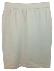 St. John Beige Knit Pencil Skirt