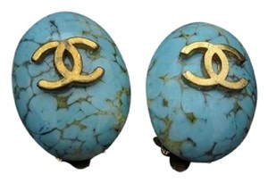 Chanel Turquoise CC Earrings 207691