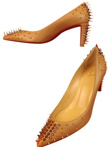 Christian Louboutin Nude/Multi Metal Pumps
