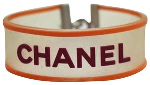 Chanel Clover Orange & Magenta Clear Rubber Bracelet CCJY27 33CCA606