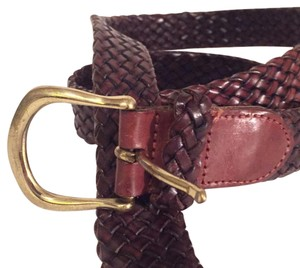 Cole Haan Cole Haan braided woven leather belt brown never worn