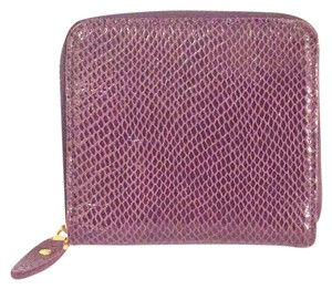 maxine Couture Maxine couture purple embossed leather zip around wallet wristlet