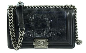 Chanel Boy Flap Blueblack Shoulder Bag