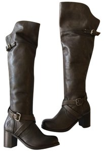 Frye Over The Knee Kelly Gray Boots