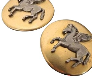 Hermès Gold Horse Clip On Earrings 168862 HTL55