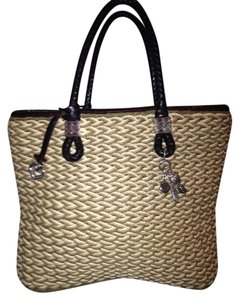 Brighton Straw Heart Charm Multi-charms Tote in Beige