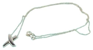Tiffany & Co. MTSL01 100% Authentic X Sterling Silver Necklace 16