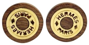 Hermès Wooden H Logo Earrings 68HER902