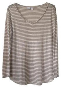 BP. Clothing Top Tan and white striped