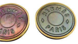 Hermès Clip On Earrings Iridescent Multicolor classic H Logo 164311 HTL31