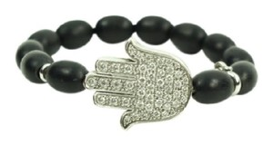 Aspery & Guldag Black Diamond and Gold Beaded Hand Bracelet