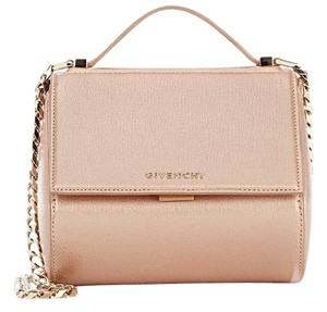 Givenchy Box Metallic Chain Satchel in pink