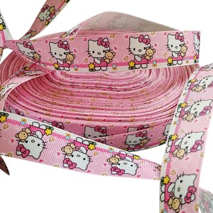 Hello Kitty 6 yards!! FREE SHIP! NEW Pink Hello Kitty 1