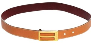 Hermès Chamonix Box Reversible Polished 24mm H Belt Sz 70 HTL116S