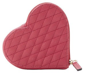 Rebecca Minkoff Rebecca Minkoff Quilted Zest Leather Heart Coin Purse Mini Wallet