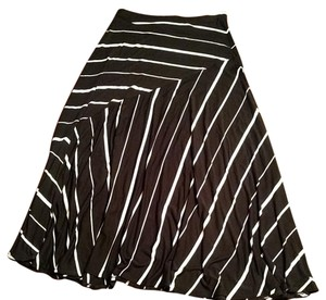Chico's Maxi Skirt Black and white