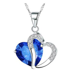 Brilliance 8 Brilliance 8 Silver Plated Crystal Heart Pendant Necklace