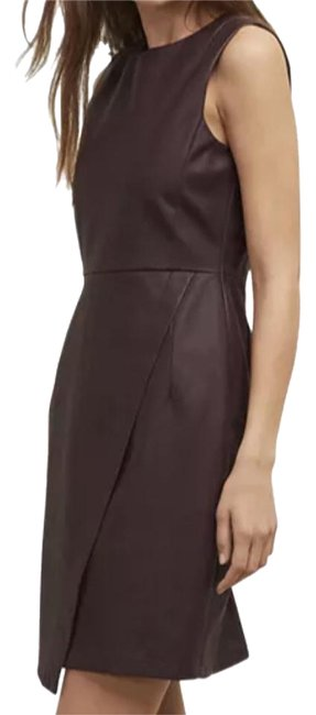 Kenneth Cole Reaction Cabernet Sleeveless Faux Wrap Mid-length Cocktail Dress Size 8 (M) Kenneth Cole Reaction Cabernet Sleeveless Faux Wrap Mid-length Cocktail Dress Size 8 (M) Image 1