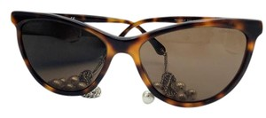 Chanel Chanel Tortoise Cat Eye Chain Sunglasses 5341-H 58