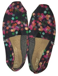 TOMS black with multicolor