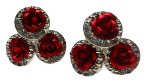 Betsey Johnson New Betsey Johnson Rose Stud Earrings J3078