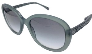 Chanel Distant Light Green/Silver Round Chanel Sunglasses 5328 c.1531/S3 56