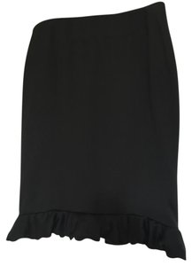 Giorgio Armani Ruffle Satin Couture Skirt black