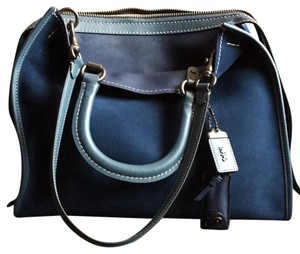 Coach Satchel in Denim/black copper