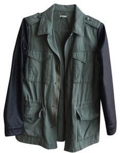 Ecote Urban Outfitters Army Leather Military Jacket
