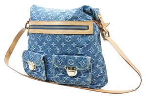Louis Vuitton Denim Cross Monogram Shoulder Bag