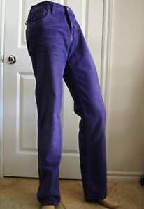 Gucci Purple Cotton Corduroy Mens Casual Pants 52r/36 212009 5075 Groomsman Gift