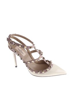 Valentino Studded Classy Pointed Toe Purple,White Pumps