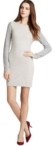 Theory short dress Grey Cashmere Sweater Waffle Color-blocking on Tradesy