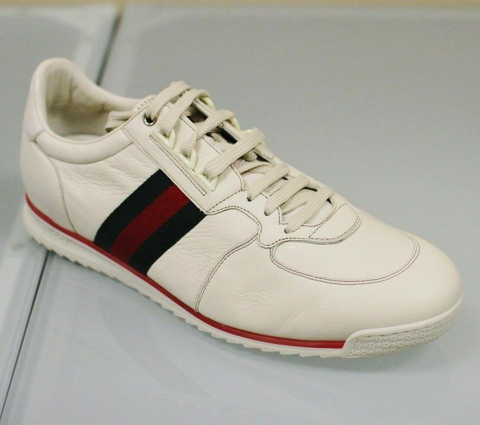 2a040558f Gucci White Mens Leather Running Sneakers 13.5g/Us 14 243825 Shoes Image 7.  12345678
