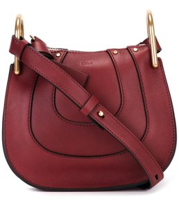 Chloé Hayley Nano Hayley Burgundy Hayley Cross Body Bag