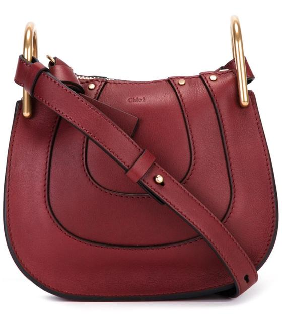 Item - Hayley Off with Ss50 Until Midnight Pst 03/31 Sienna Red Leather & Suede Cross Body Bag