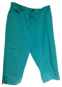 Ruby Rd. Capris Light Blue