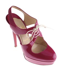 Christian Louboutin Louboutin Patent Leather Laceup Sporty Pink Pumps
