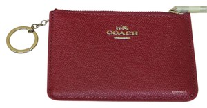 Coach Coach Key Pouch Card Case Coin Purse Leather in Red