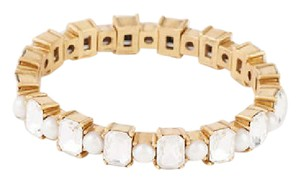 Ann Taylor GOLD TONE CRYSTAL STRETCH BRACELET